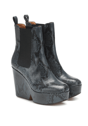 Exclusive to Mytheresa – Beatrice snake-effect ankle boots