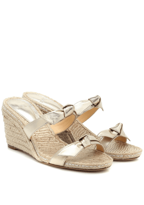 Clarita leather wedge espadrille sandals
