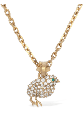 Chick Pavé Charm Long Necklace