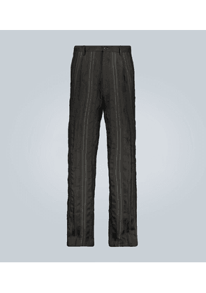 Wool and linen-blend pants