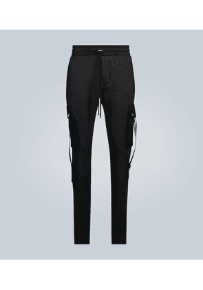 Cargo sweatpants with straps