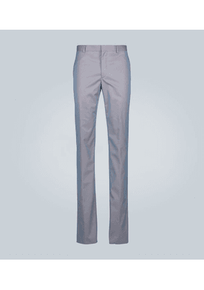 Technical iridescent slim-fit pants