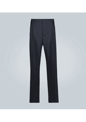 Jade wool pleated pants