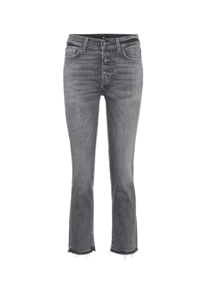 The Straight high-rise cropped jeans