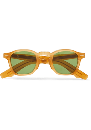 Jacques Marie Mage - Round-Frame Acetate Sunglasses - Men - Yellow