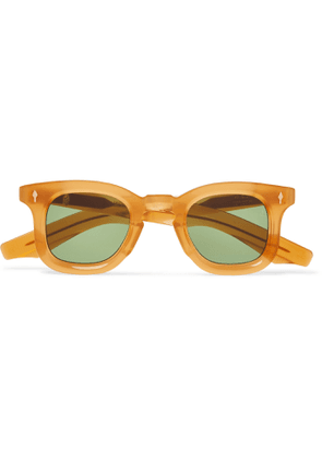 Jacques Marie Mage - Loewy Round-Frame Acetate Sunglasses - Men - Yellow
