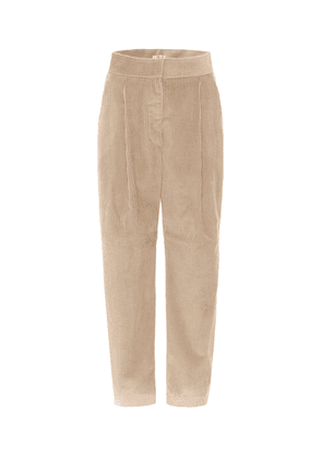 High-rise tapered corduroy pants