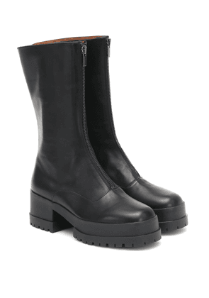 Wallie leather ankle boots