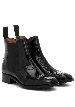 Edith patent leather Chelsea boots