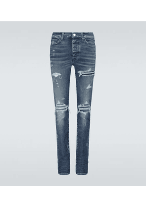 Quilted leather Animation jeans