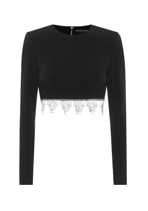 Exclusive to Mytheresa – Embellished cady crop top