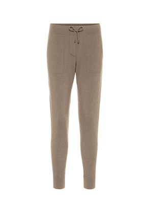 Ribbed-knit cashmere trackpants