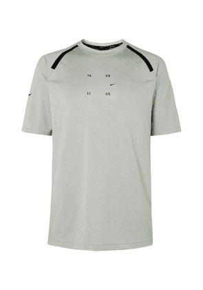 Nike - Tech Pack Perforated Stretch-Jersey T-Shirt - Men - Gray