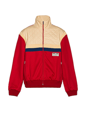 Gucci Track Jacket in Live Red & Ivory P & Mix - Neutral,Stripes,Red. Size M (also in ).
