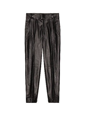 Fear of God Exclusively for Ermenegildo Zegna Single Pleat Calf Pant in Black - Gray. Size 50 (also in 46).
