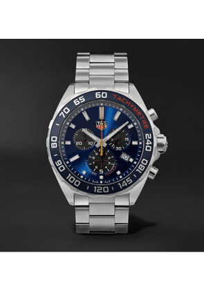 TAG Heuer - Formula 1 Quartz Chronograph 43mm Stainless Steel Watch - Men - Blue
