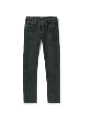 TOM FORD - Slim-Fit Stretch-Cotton Corduroy Trousers - Men - Unknown