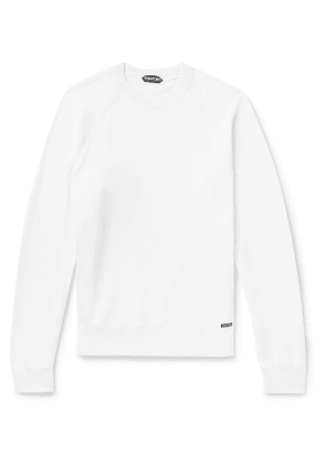 TOM FORD - Fleece-Back Cotton-Jersey Sweatshirt - Men - White