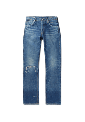visvim - Social Sculpture 16 Damaged-25 Distressed Denim Jeans - Men - Blue