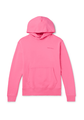 adidas Consortium - Pharrell Williams Embroidered French Cotton-Terry Hoodie - Men - Pink