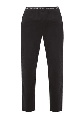 Calvin Klein Underwear - Panelled Cotton-blend Pyjama Trousers - Mens - Black