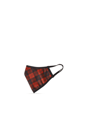 Mulberry Tartan Check Face Covering - Scarlet - Size L