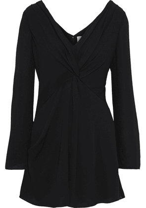 Cinq À Sept Cecil Twist-front Crepe Mini Dress Woman Black Size 2