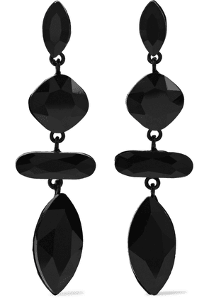 Iris & Ink Coated 18-karat White Gold-plated Crystal Earrings Woman Black Size --