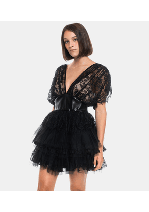 Mini Dress Astrid Black Lace and Tulle