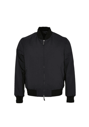 Brioni Reversible Bomber Jacket (Blue & Black)