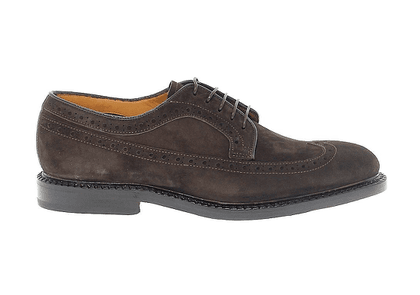 FABI MEN'S FU7747BROWN BROWN SUEDE LACE-UP SHOES