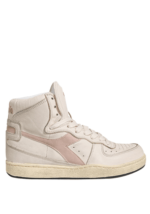 BEIGE LEATHER HIGH SNEAKERS