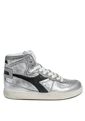 SILVER LEATHER HIGH SNEAKERS