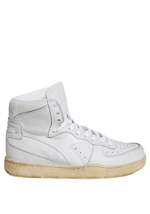 WHITE LEATHER HIGH SNEAKERS