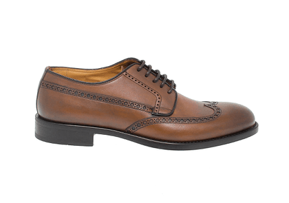 FABI MEN'S FU9559BROWN BROWN LEATHER LACE-UP SHOES