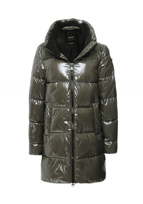 Geox Emalise Longline Parka Jacket Colour: Green