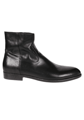 BUTTERO MEN'S B8560CUP01 BLACK LEATHER ANKLE BOOTS