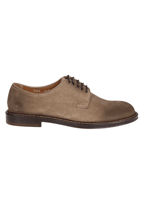 DOUCAL'S MEN'S DU1385PHOEUY067MW08 BEIGE SUEDE LACE-UP SHOES