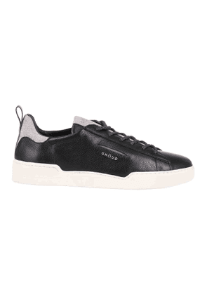 Sneakers Black Leather Gray