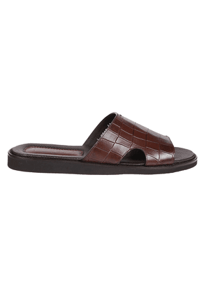 DOUCAL'S MEN'S DU2642ITACUF073TM00 BROWN LEATHER SANDALS