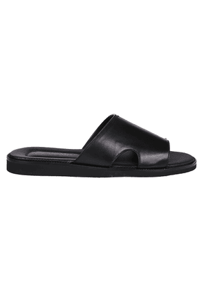 DOUCAL'S MEN'S DU2643ITACUF002NN00 BLACK LEATHER SANDALS