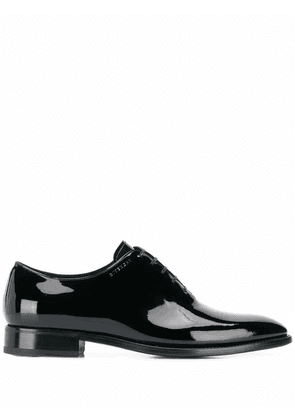 GIVENCHY MEN'S BH101NH0JJ001 BLACK LEATHER LACE-UP SHOES