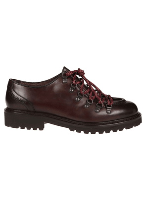 DOUCAL'S MEN'S DU2135PHILUT087TM23CRIMP BURGUNDY LEATHER LACE-UP SHOES