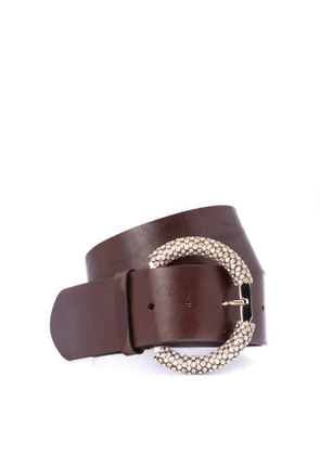 High belt with jewel buckle