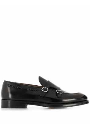 DOUCAL'S MEN'S DU2617ORVIUY007NN00 BLACK LEATHER MONK STRAP SHOES