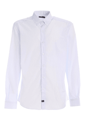 STRIPED SHIRT IN WHITE AND LIGHT BLUE