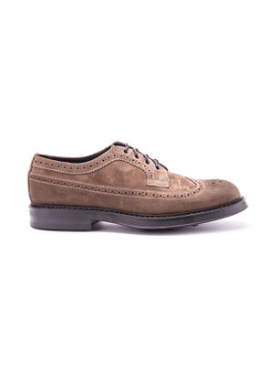 DOUCAL'S MEN'S DU2740BRUGUF011TC02 BROWN SUEDE LACE-UP SHOES