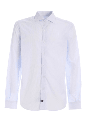 CHECKED SHIRT IN WHITE AND LIGHT BLUE