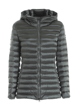 PLACE LONG CROP DOWN JACKET IN GREEN