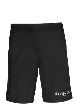 GIVENCHY MEN'S BMA0051Y5N001 BLACK POLYESTER TRUNKS